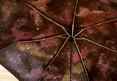 Pink Stripey Socks: Paint your own galaxy umbrella