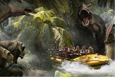 Universal Studios - Jurassic Park Water Ride!