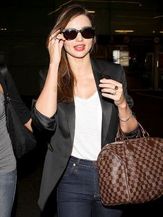 Miranda Kerr spends almost as much time traveling as she does on solid ground. Find out how the supermodel stays comfortable when she's in the air.