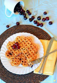 Sweet Cherry Waffles