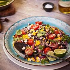 Make this spicy poblano, corn, black bean and quinoa salad recipe to serve with whatever you& grilling, or have a larger portion as a main dish. To use canned beans, skip Step 1 and add about 2 cups beans in Step Quinoa Recipes Easy, Quinoa Salad Recipes, Vegetarian Recipes, Healthy Recipes, Bean Recipes, Healthy Salads, Diabetic Recipes, Lunch Recipes, Vegetable Recipes