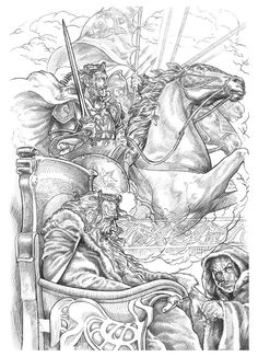 "all the drawings here,are for a book call ""Tolkien,seres fantásticos de la tierra media""-Alberto Santos editor"