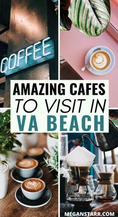 The Best Coffee in Virginia Beach (Awesome & Instagrammable Cafes in VA Beach) | Virginia Beach, Virginia | #VB #VAbeach #virginiabeach #virginia #coffee #cafes #thirdwavecoffee #eastcoast | Travel to Virginia | Virginia Travel | VA Travel | Virginia Beach coffee | Virginia cafes | Virginia Beach restaurants | Cappuccino | Flat white | Chemex | Aeropress | V60 coffee | Things to do in Virginia Beach | Things to do in VA Beach | Where to go in Virginia Beach | Virginia Beach instagram guide Virginia Beach Restaurants, Virginia Beach Vacation, Beach Trip, V60 Coffee, Coffee Shop, Virgina Beach, Senior Week, Coffee Around The World, Beach Bucket