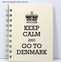 Denmark Travel Journal Notebook Diary by stevenjameskeathley, $8.95