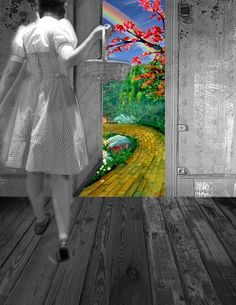 I just love this pic from the Wizard of Oz...It makes me think what it will be like when we get to heaven. What a wonderful world awaits us! I can't wait!