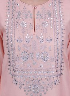 Indian Fashion Designers - Anita Dongre - Contemporary Indian Designer - The Belinda Suit - Kurti Embroidery Design, Embroidery Suits, Hand Embroidery Designs, Indian Fashion Designers, Indian Designer Wear, Indian Attire, Indian Outfits, Khadi Kurta, Kurta Designs