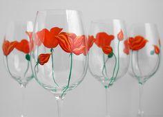 Poppies glasses