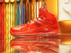 hot sale online a85f8 6ac4e Cheap Lebron X Sport Red hot Red Lebron 9, Lebron James, Nike Bags,