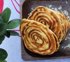 Pancakes à la Farine de Riz et au Lait de Coco Pancakes Vegan, Coco, Breakfast, Ethnic Recipes, Hui, Pumpkins, Kaffir Lime, Rice Flour, Chinese New Year