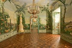 The Bergl Rooms at Schönbrunn Palace in Vienna were commissioned for Empress Maria Theresa, and painted by Johann Wenzel Bergl between 1774 and 1778.