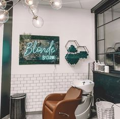 Spotted: The Avery Backwash System in camel at the gorgeous Blonde by Ceann in Tempe, AZ! Home Hair Salons, Hair Salon Interior, In Home Salon, Design Salon, Salon Interior Design, Spa Design, Design Ideas, Salon Shampoo Area, Small Hair Salon