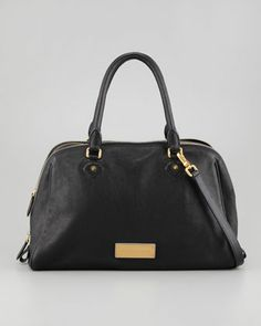 Washed Up Lauren Leather Satchel Bag, Black by MARC by Marc Jacobs at Neiman Marcus.