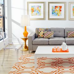 We're loving this orange color theme for fall.
