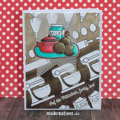 Colouring the negative space around images makes for a really unique background, don't you think? More pictures and a list of supplies can be found on www.maikreations.de