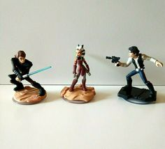 3 x Infinity Game Star Wars Ahsoka Tano, Skywalker Light FX, Han Solo Figures Star Wars Games, Star Wars Toys, Han Solo Figure, Ahsoka Tano, Xbox 360, Video Game Console, Microsoft, Infinity, Stars