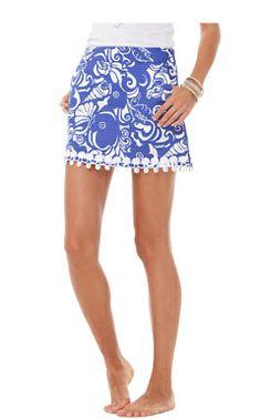 Marigold Lace Trim Skort