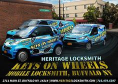 Locksmith in Buffalo NY. Keys On Wheels powered by Heritage Locksmith, the trust able and professional locksmith in Buffalo since 2007.