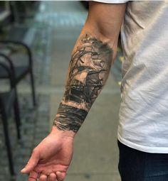 Ideas nautical tattoo sleeve kraken pirate ships for 2020 Pirate Tattoo Sleeve, Ship Tattoo Sleeves, Nautical Tattoo Sleeve, Lace Sleeve Tattoos, Vintage Tattoo Sleeve, Sleeve Tattoos For Women, Tattoo Sleeve Designs, Nautical Tattoos, Marine Tattoos