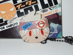 Soul Eater Hello Kitty Necklace Anime Soul Evans by laminartz, $12.00