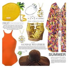 """""""Enjoying the Beach with Totwoo"""" by eclectic-chic ❤ liked on Polyvore featuring La Perla, L'Agent By Agent Provocateur, Kate Spade, H&M, G by Guess, totwoo, totwooglobal and smarttech"""
