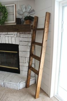 This easy blanket ladder can be completed in only a few hours and for under $10. Even the most inexperienced DIYer can take on this simple DIY project.