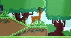 Deer Pixel Animation, Pixel Art, Deer, Movie Posters, Film Poster, Billboard, Film Posters, Reindeer