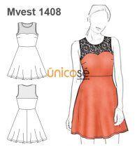 Moldes y patrones de vestidos cortos