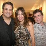 Beto Bardawill, Cecília Leite e Luizinho Costa (