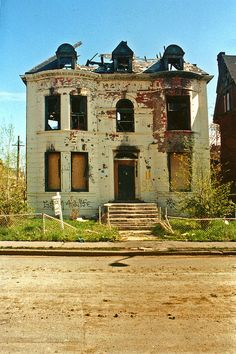 Abandoned in Brush Park, Detroit, MI.