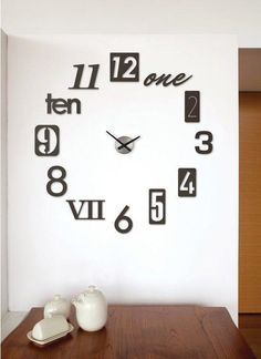 Umbra Numbra Wall Clock (Black) from Kohl's. Shop more products from Kohl's on Wanelo. 3d Wall Clock, Wall Clock Online, Wall Clock Design, Diy Clock, Unique Wall Clocks, Clock Decor, Contemporary Clocks, Modern Clock, Small Office Design