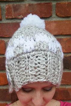 Gray winter hat Adult pom pom hat Winter hat by HappyElephantArt Warm Winter  Hats d70699ffdebd