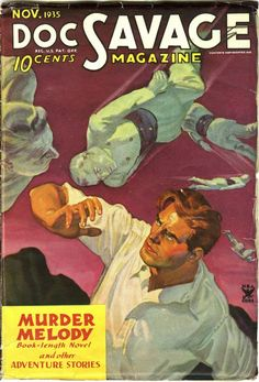 Doc Savage pulp magazine cover