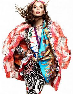 Bohemian trend in German Vogue,   January 2012