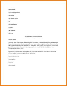 Examples Of Maternity Leave Letters  Pregnancy Pregnancy Labor