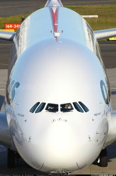 Qantas Airbus A380-800. Image via google airliners.net copyright owner