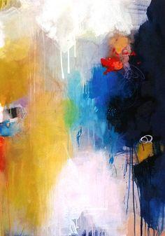 Original large abstract painting modern fine art by ARTbyKirsten