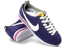 nike cortez Womens Nike Cortez Suede Purple White Pink [Womens Nike Cortez - Womens Nike Cortez Suede Purple White Pink shoes are of top quality. The purple upper is made of fine suede, which adds durability to the entire shoe. Yellow tongue tab is ma Nike Cortez Leather, Pink Shoes, Cotton Lace, White Nikes, Shoe Boots, Nike Women, Vanity, Sneakers Nike, Retro Vintage