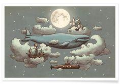 Ocean meets sky als Premium Poster von Terry Fan | JUNIQE