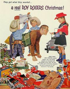 Roy Rogers product line Christmas ad from 1957