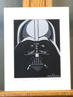 """This is a LIMITED EDITION HAND SIGNED Matted Print of my Star Wars painting, """"Vader In A Galaxy Far, Far Away"""".     Only 333 prints exist. Each print is hand signed and numbered by the artist.    Mat measures 11""""x14"""". Print measures 8""""x10"""". Mounted on 3/16"""" foam core board.    Matted Print is ready to pop right into an 11""""x14"""" frame!"""