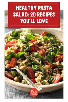Packed with fresh produce and seasonal flavors, these healthy pasta salad recipes are a delicious addition to your menu. Healthy Pasta Salad, Healthy Pastas, Healthy Recipes, Yummy Pasta Recipes, Pasta Salad Recipes, Cucumber Salad, Coleslaw, Summer Salads, Potato Salad