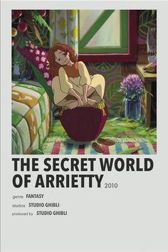 Secret World Of Arrietty, The Secret World, Animes To Watch, Anime Watch, Studio Ghibli Poster, Poster Anime, The Garden Of Words, Tamako Love Story, Anime Suggestions