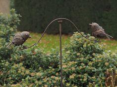 Tuinsteker windspel met 2 vogels   Windmolen & tuinsteker   Steeg80 moestuin enzo Bird Feeders, Outdoor Decor, Products, Gadget, Teacup Bird Feeders