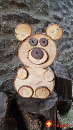 wood projects - Am schönsten Wood slice / Log Bear von TheW. - wood projects – Am schönsten Wood slice / Log Bear von TheWoodStackShop auf - Wood Log Crafts, Wood Slice Crafts, Diy Wood Projects, Woodworking Projects, Driftwood Crafts, Fine Woodworking, Wood Logs, Wood Slab, Wood Animal