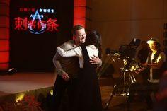 Beijing China Assassin's Creed promo / hug