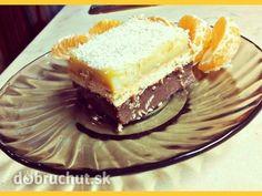 Jednoduchý pudingový koláčik bez pečenia, bez múky