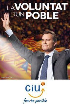 Cartel Ciu elecciones autonómicas catalanas 2012