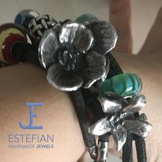 Beads - Coppia Papaveri - Argento 950