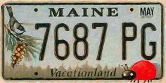 I uploaded new artwork to fineartamerica.com! - 'Maine License Plate' - http://fineartamerica.com/featured/maine-license-plate-lanjee-chee.html via @fineartamerica