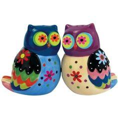 Owl Salt & Pepper Shakers #owls #kitchen #whimsical